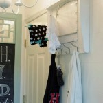 DIY Laundry Shelf with Hooks