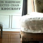 Restoration Hardware Deconstructed Chair Knockoff
