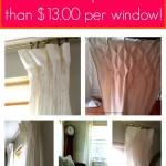 DIY Smocked Curtains make from Sheets & Drop Cloths
