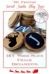 2014 Secret Sant Blog Tour - DIY Wood Slice Chalk Ornaments