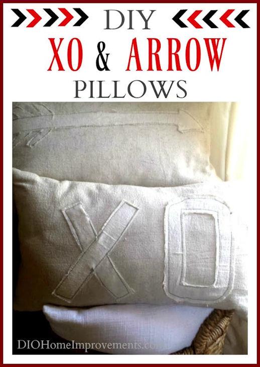 Xo Amp Arrow Valentines Pillows Tutorial For Subtle