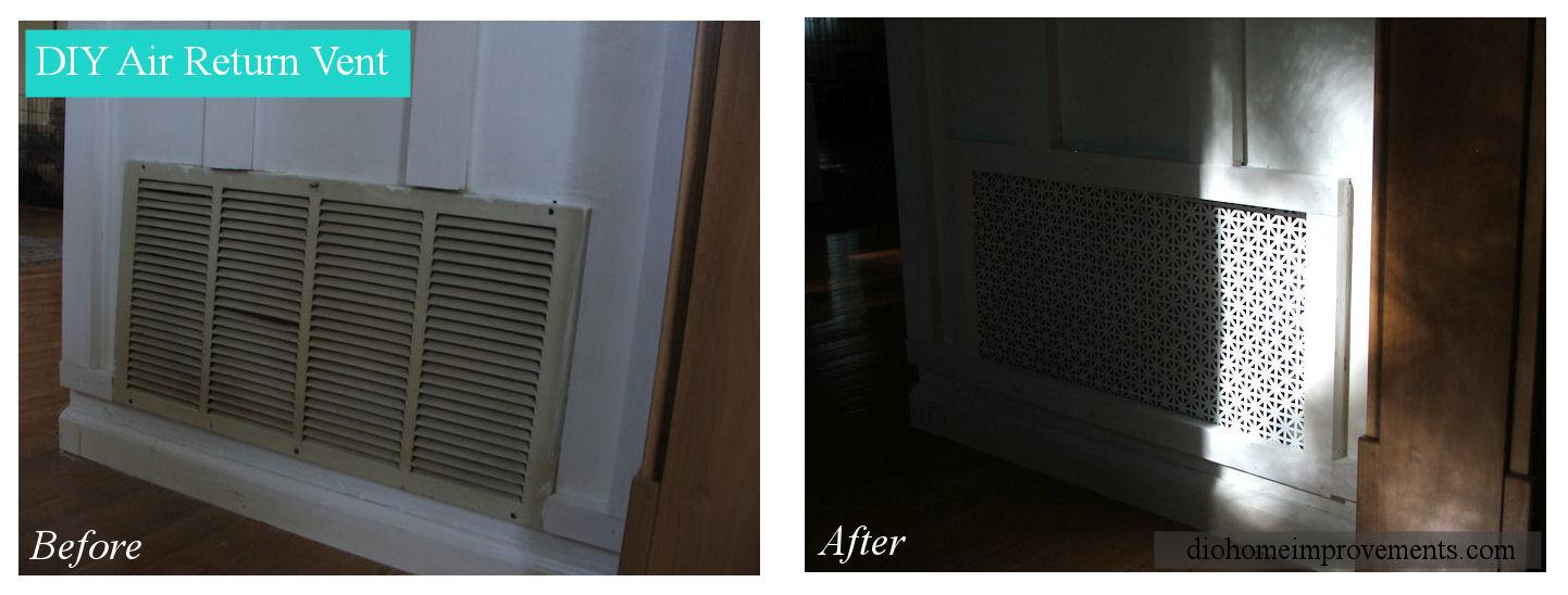 Diy Air Return Vent Dio Home Improvements