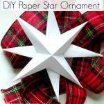 DIY Paper Star Ornament