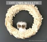 Anthropologie Knockoff Owl Wreath
