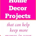 Frugal budget saving decorating ideas