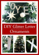 Glitter Letter Ornaments - Knockoff tour