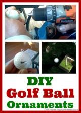 DIY Golf Ball Ornaments