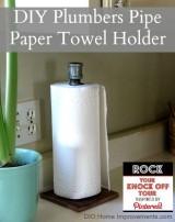 Plumbers Pipe Paper Towel Holder