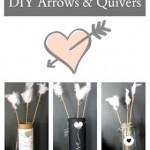 Subtle Valentines Decor, DIY Arrows & Quivers, Industrial Farmhouse Valentines